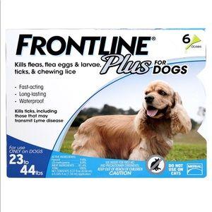 Frontline plus 23-44lb 6 month supply